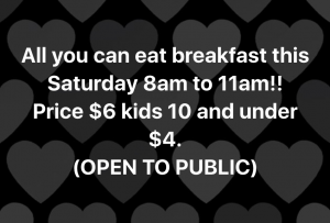 All You Can Eat Breakfast $6 @ VFW