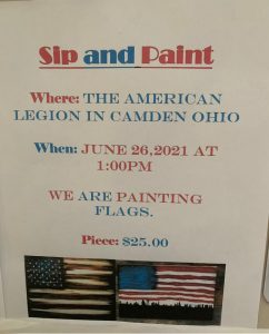 Sip & Paint Party @ American Legion Post #377