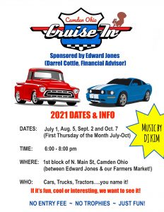Camden Cruise In Event @ 1st Block on N. Main